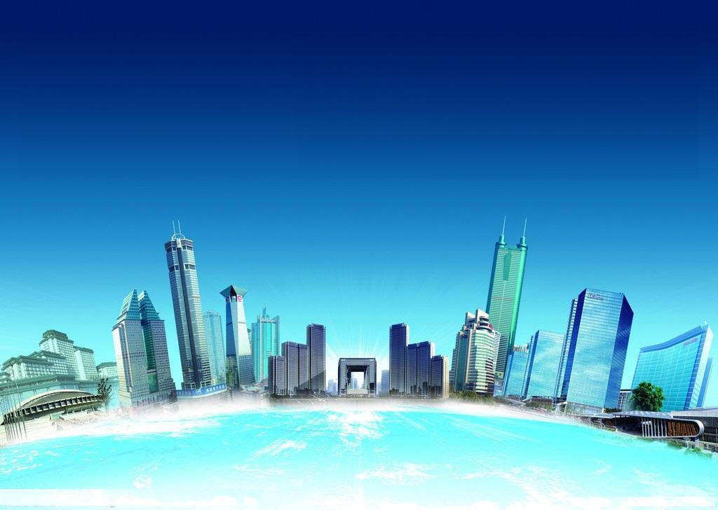 建筑公司宣传册封面 高楼 地球 建筑群 楼房 中建二局 ps